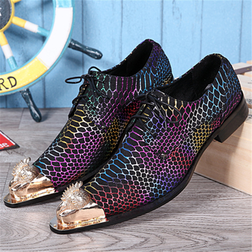 aliexpress buy colorful leather oxford shoes