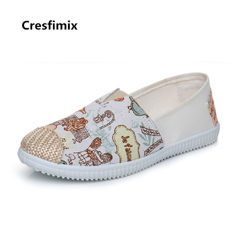 Women Cute Sweet Comfortable Spring Slip on Flat Shoes Lady Casual Summer Canvas Flats Female Cool Dance Shoes Zapatos E214Women Cute Sweet Comfortable Spring Slip on Flat Shoes Lady Casual Summer Canvas Flats Female Cool Dance Shoes Zapatos E214