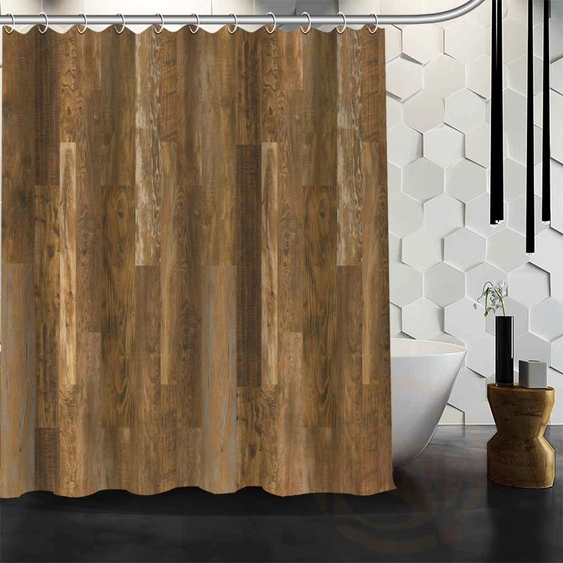 Amazing Wood Shower Curtain Part - 7: Best Nice Custom Old Barn Wood Shower Curtain Bath Curtain Waterproof  Fabric For Bathroom MORE SIZE W#@25-in Shower Curtains From Home U0026 Garden  On ...