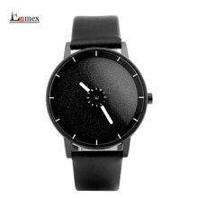 2017 hommes de cadeau Enmex conception spéciale montre-bracelet mignon rotation deuxième main creative Brillant visage simple de mode montres à quartz