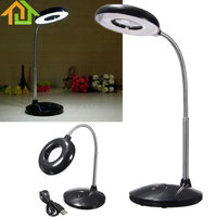 18 LED USB Reading Desk Table Light With 3x Magnifying Glass USB Battery Power Lamp