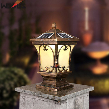 Солнечные столбы наружные Дворовые настенные столбы, наружные водонепроницаемые садовые огни, 30x30x55 см 4,8 W