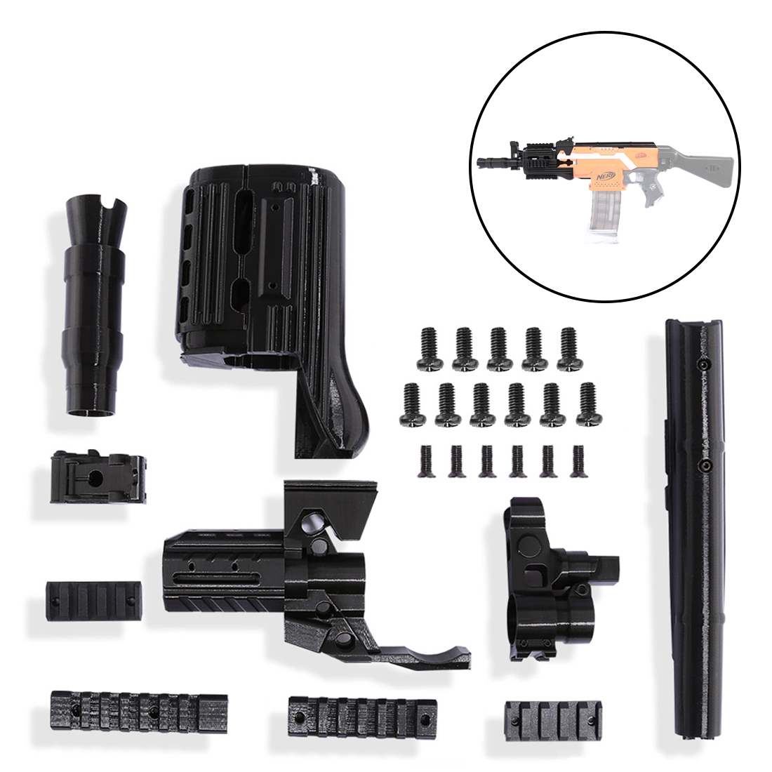 Worker f10555 3D Printing NO.105 Series Short Type Modified Kit for Nerf Stryfe(Type-C) Professional Toy Gun Accessories садовая детская тяпка truper atj kid 10555
