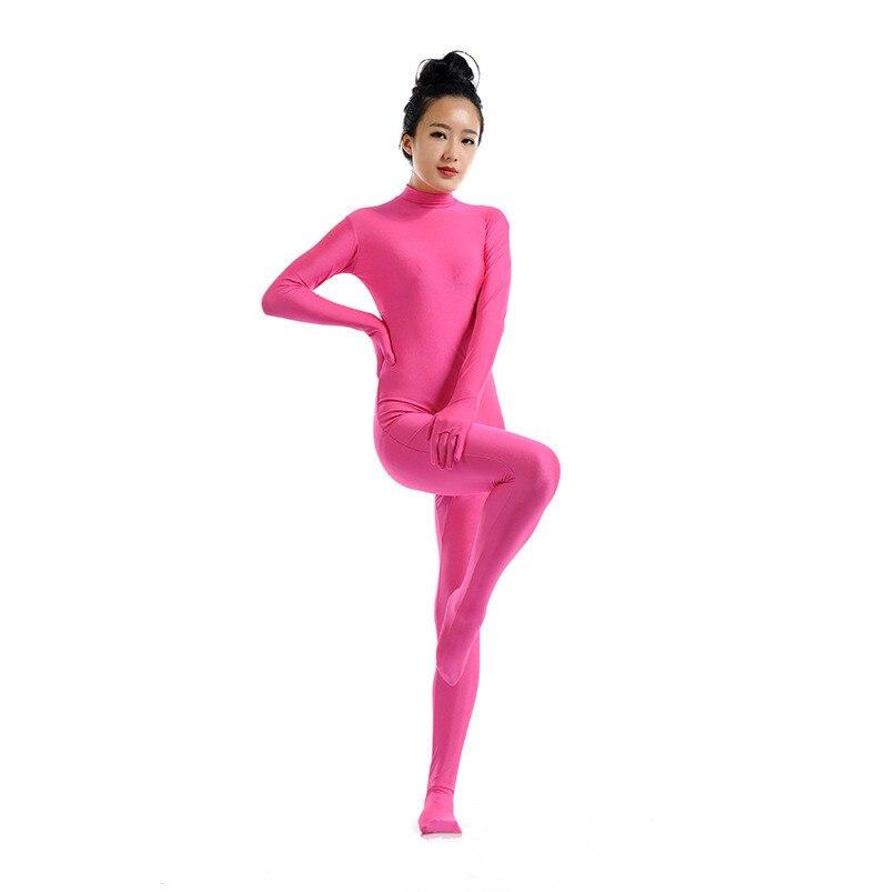 (SWH010) Rose Pink Spandex Full Body Skin Tight Jumpsuit Zentai Suit Bodysuit Costume for Women/Men Unitard Lycra Dancewear
