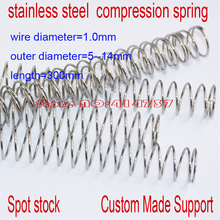 1*5--14mm(OD)*300mm stainless steel spot spring 1.0mm wire hammer spring Y type compression spring pressure spring OD=5-14mm