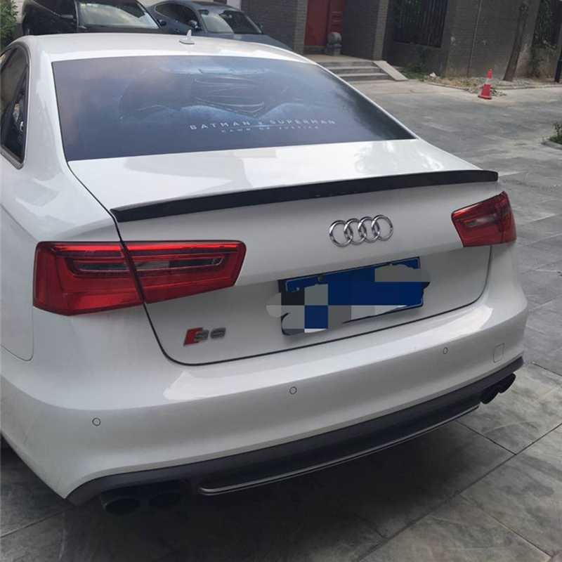 C7 A6 Spoiler S6 Style Carbon Fiber Spoiler Rear Trunk Wing For Audi A6 C7 4G