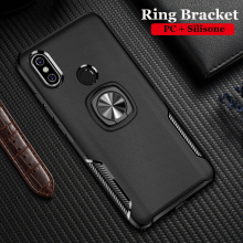Silicone Cases For XiaoMi Mi A2 Lite Metal Ring Stand Soft Case for 6x A 2 Phone Bag