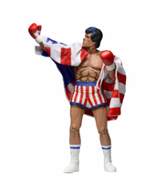 7 Inches NECA Rocky Sylvester Stallone Classic Video Games Appearance 1987 Figure Model with Box Children Collections