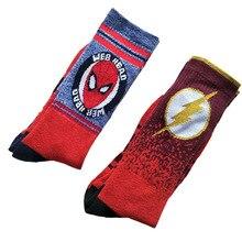 USA Fashion Cartoon Anime Superhero Socks Men Long Happy Art Funky Socks Crazy Cool Flash Superman
