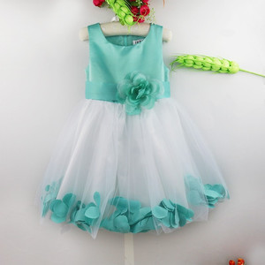 Image 5 - Flower Girls Dress Flower Petals Tulle Bow Sleeveless Formal Dresses for Wedding Pageant Birthday Party Formal Special Occasions