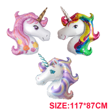 Unicorn Party Foil Balloons Unicornio Helium Ballons 1st First Birthday Party Kids/Adult Decorations Baby Shower Party Supplies