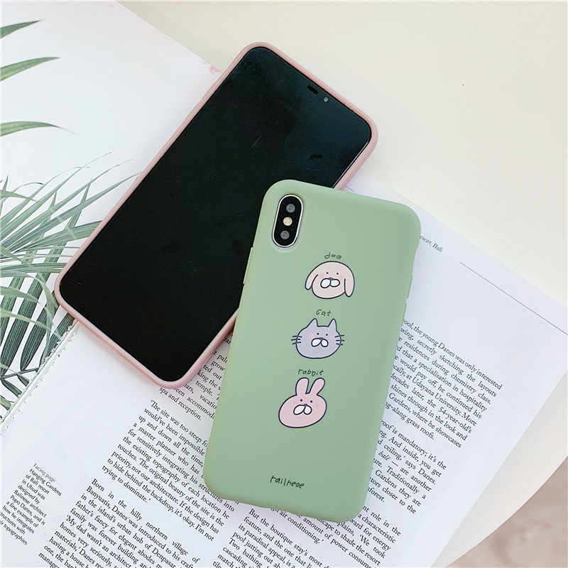 d70f554f5c ... sFor iPhone 8 7 6S 6 S Plus Case Korean Style Cute Cartoon Liquid  Silicone Case ...