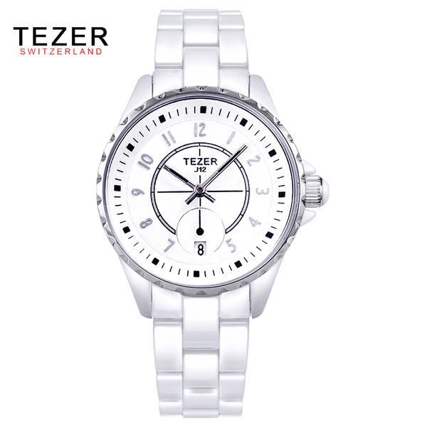 ФОТО Watch Women Brand TEZER Quartz-Watch Relogio Feminino Montre Femme Ceramics Watchband Fashion Women's Watches Ladies Wristwatch