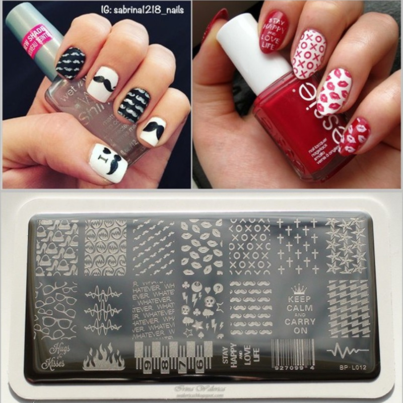 Classic lip cross pattern nail art stamp template moustache image classic lip cross pattern nail art stamp template moustache image plate born pretty nail stamping plates bp l012 125 x 65cm in nail art templates from prinsesfo Choice Image