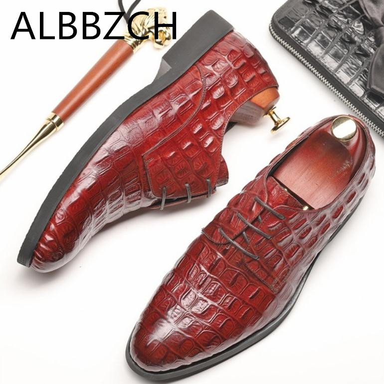 Luxury brand designer derby men shoes crocodile pattern mens wedding dress shoes quality cow leather office work career shoesLuxury brand designer derby men shoes crocodile pattern mens wedding dress shoes quality cow leather office work career shoes