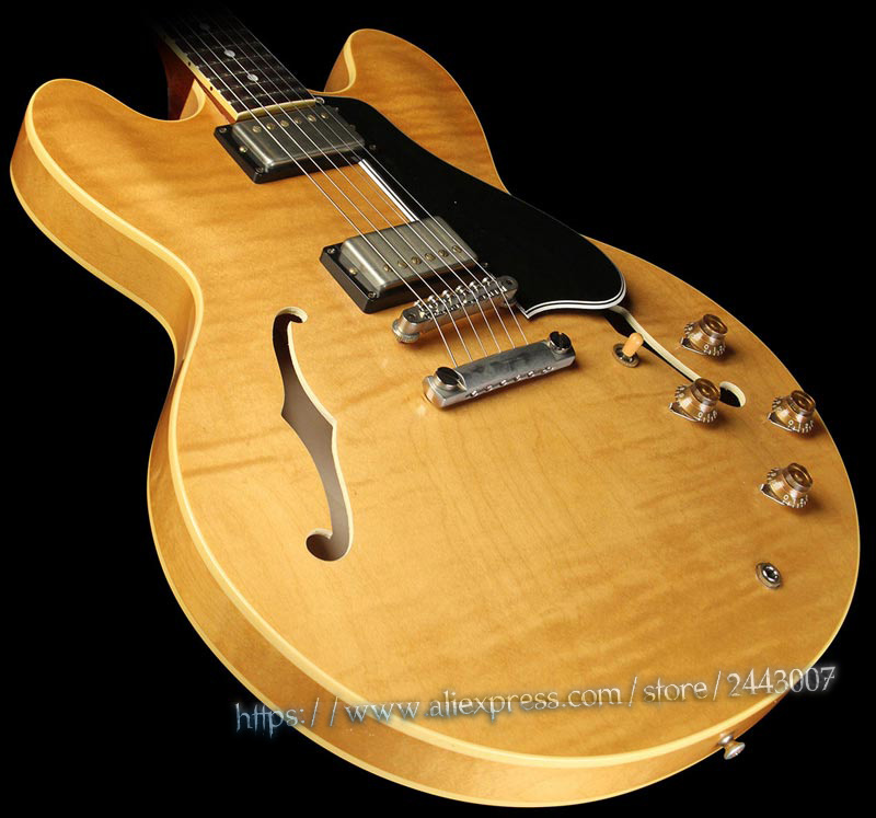 GC Custom Shop Memphis ES Rusty Anderson 1959 335 Electric Guitar Vintage Natural gc collector s choice 8 1959 bernie marsden the beast electric guitar dirty lemon