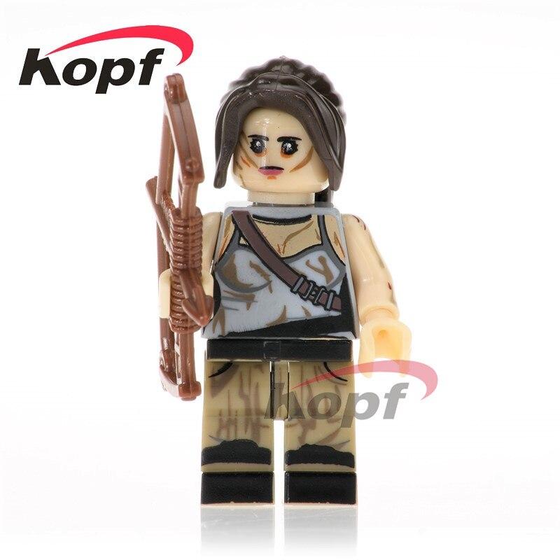 Single Sale Super Heroes Lara Croft Peeta Nathan Drake Kill Bill Vol.1 Bricks Building Blocks Collection Toys for children KL070 ...