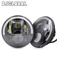 BJGLOBAL 2Pcs 7 60W LED Projector Daymaker Headlight DRL For Jeep Wrangler TJ JK Hummer H1