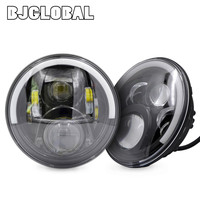 BJGLOBAL 2Pcs 7 60W LED Projector Daymaker Headlight DRL For Jeep Wrangler TJ JK Hummer H1