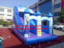 Factory direct inflatable castle slides large obstacles Animal  slide combination Ice and Snow Margin KY-705
