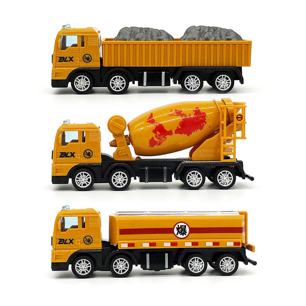 Комплект из 3 предметов Diecast ИНЖЕНЕРНЫХ транспортных средств 1:55 строительства самосвал Автобетоносмеситель танкер автомобиля набор игрушек для мальчиков Высокая моделирования