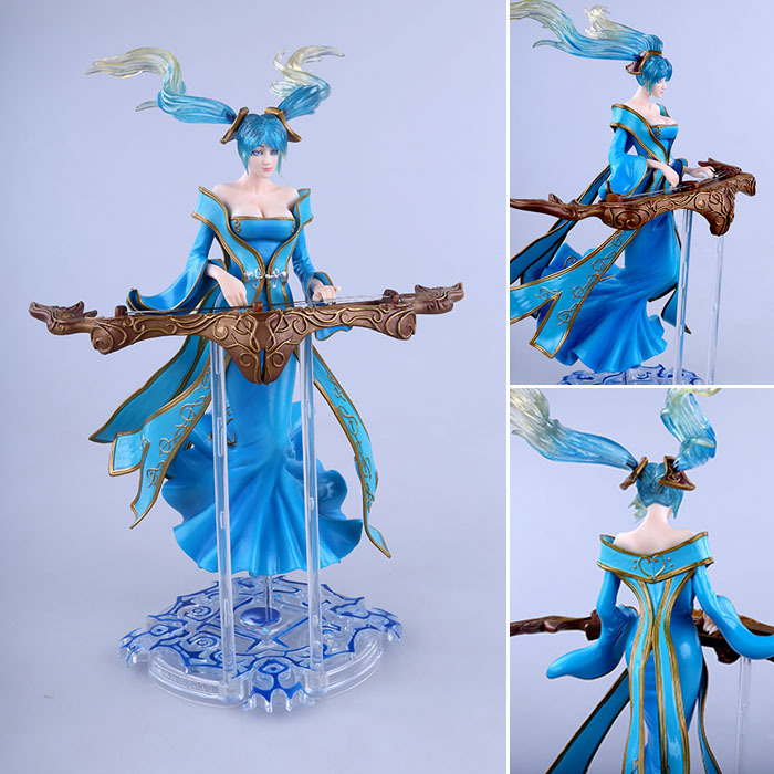 Free Shipping 11 Hot Game Sona Buvelle - Maven of the Strings Boxed 28cm PVC Action Figure Collection Model Toy Doll Gift