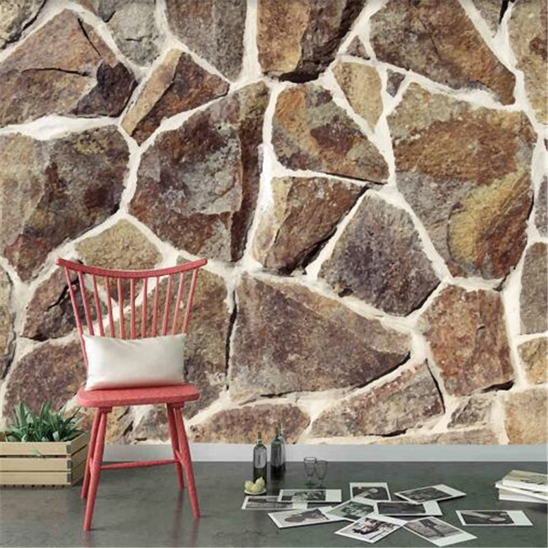 3D Wall Paper for Walls Vintage Brick Non-Woven Wallpapers Stone Pattern Mural Living Room Decorative Wallpapers Dark Brown damask wallpaper for walls 3d wall paper mural wallpapers silk for living room bedroom home improvement decorative