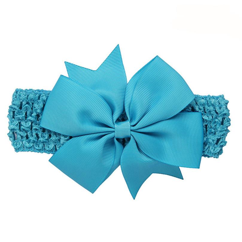 BMF Flower Headhands Baby Girls Headbands Bowknot Hair Accessories For Girls Infant Hair Band Mar27 Drop Ship
