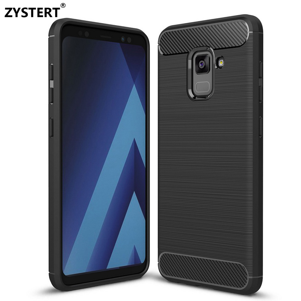 ZYSTERT For A8 2018 A5 Silicone Leather Armor Shockproof Non-slip Soft TPU Capa Case A5 A7 A8 A8 Plus a8 2018 Back Cover Coque