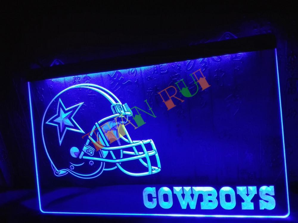 new product bdd25 7b3c5 US $11.0 |LD317 Dallas Cowboys Helmet NR Bar LED Neon Light Sign home decor  shop crafts-in Plaques & Signs from Home & Garden on Aliexpress.com | ...
