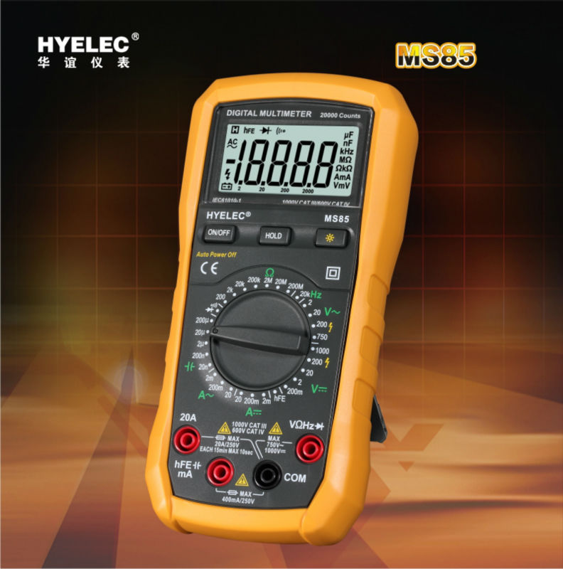 ФОТО Free Shipping HYELEC MS85 LCD Digital Multimeter AC/DC Resistance Capacitance Frequency Tester Backlight Voltage Detector