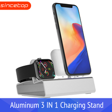 Charging Dock Station Stand Holder For AirPods IPad Air Mini Apple Watch For iWatch 38 42 40 44mm For iPhone X XR XS MAX 8 7Plus apple watch stand iphone display holder iwatch charging dock tablet bracket ipad display acrylic for smart watch exhibit