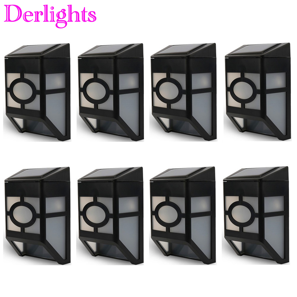 Solar Powered LED Wall Light for Outdoor Landscape Garden Yard Lawn Fence