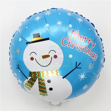 wholesale 10pcs/lot 18inch snowman helium balloons for merry Christmas party decorations foil ballons xmas tree baloes navidad