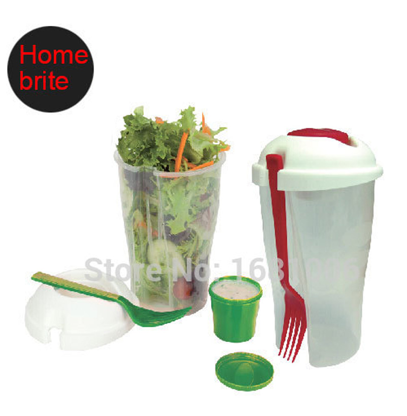 font b Salad b font To Go Cup with fork dressing bowl 26 OZ keeps