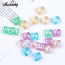 Acrylic Charms Beads Glitter Transparent Single Half hole Combodiam for jewelry making Accessories For Pendant Ornaments