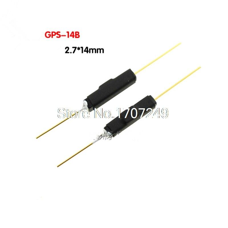 Interruptor de caña de 100 piezas tipo plástico GPS 14B 2*14 interruptor magnético antivibración NC Gerkon normalmente cerrado-in Conmutadores from Luces e iluminación on AliExpress - 11.11_Double 11_Singles' Day 1