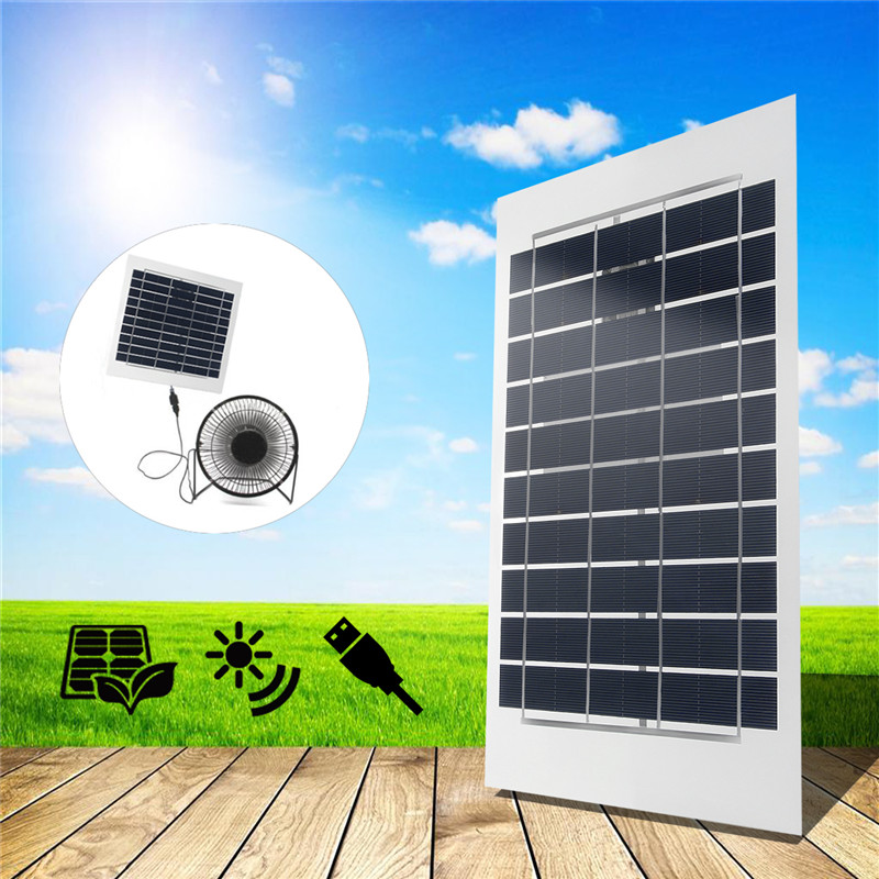 1 Pc Black 6W 5V 380x170mm Semi Flexible A-Class Sun Power USB Solar Panel For Home Free Power Smart Phone Fans
