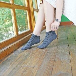 Image 5 - Chaussettes courtes en coton pour femmes, 10 paires/ensemble, chaussettes dété, couleur unie, motif petit ours, taille 35 39, décontracté