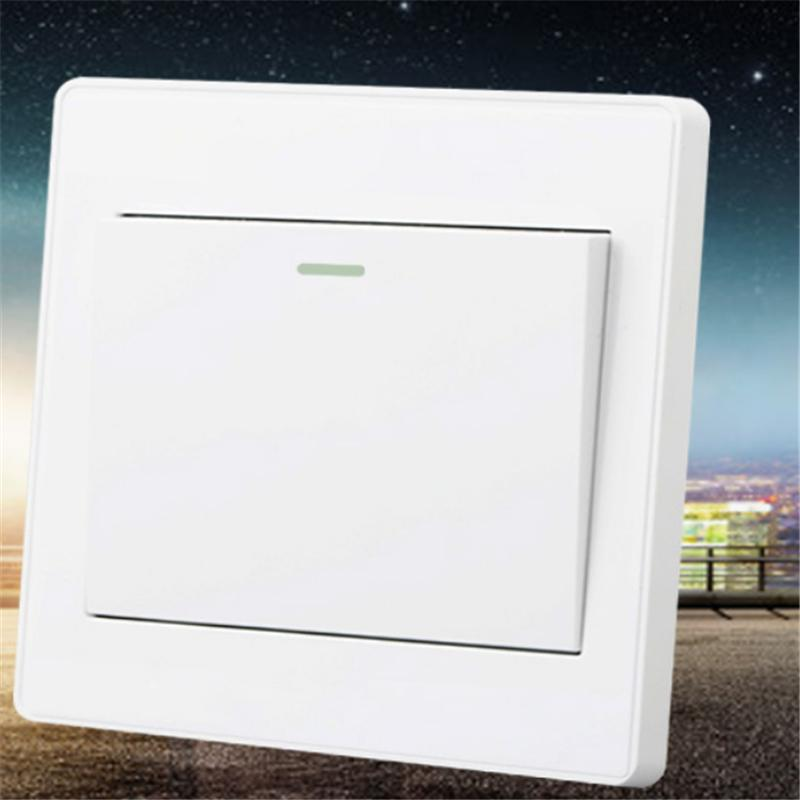 2016 Sale Dimmer Switch For Ceiling Fan New Home Wall Light Push Button On/off Switch Panel Ac 110~250v 10a Electrical Fittings 10a 250v 380v on off waterproof push button switch for cutting machine drill switch plastic motor best price