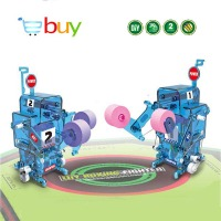 DIY Science Robot Solar Toys Kits Water Powered Boxing Robot Brine Assembly Model Building Blocks Children Kids Educational Toys