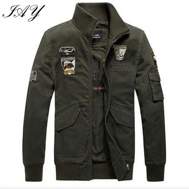 German Military Style Men Jacket loose solid male overcoat army green homme outerwear casual coat High Quality M-4XL
