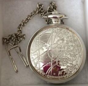 (1042) 12pcs/lot  DW doctor who desgin WATCH Necklace Engraved Quartz Pocket Watch Pendant, Party gift.