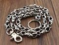 """Mens Biker Trucker Heavy Skull Long Metal Keychain Key Jean Wallet Chain 31"""" YL-35"""