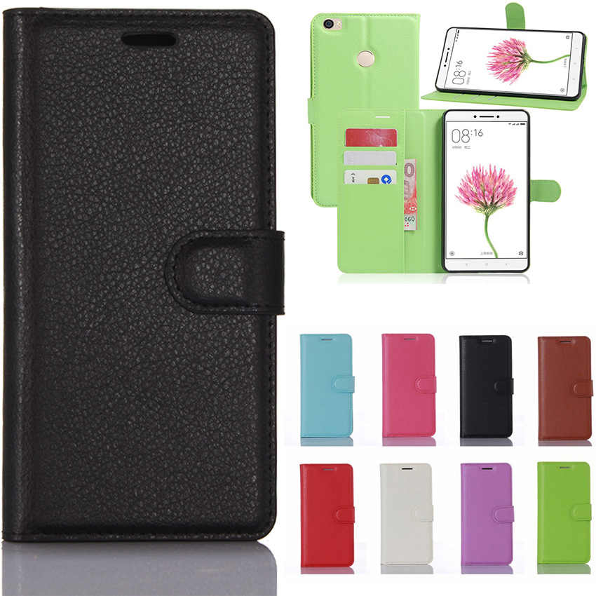 "6.44"" Xiaomi Mi Max MAX2 MAX3 MAX2S Flip Leather Phone Case For Xiaomi Mi Max 1 2 2S 3 Luxury Cover With Card Slot Case Fundas"