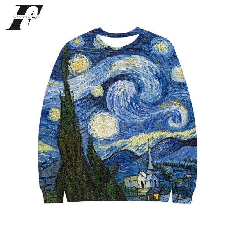 LUCKYFRIDAYF 2018 MULYEN Blue Starry Sky 3D Print Hoodies Women Men Fashion Cool Hoodie Harajuku  Sweatshirt Unisex Pullover