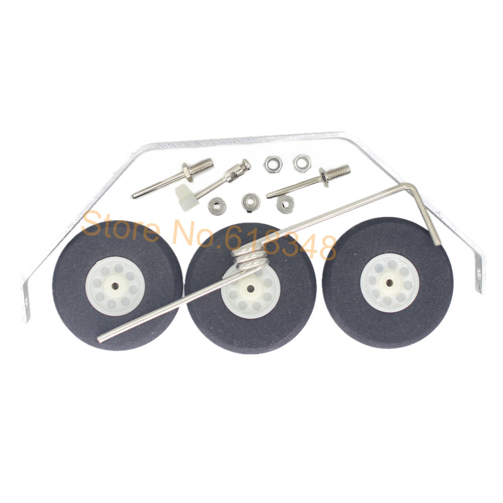 Aluminum Main Landing Gear Wheel Kit RC Airplane Cessna 182 Parts Replacement 40 Size ARF PNP aluminum alloy taildragger tricycle landing gear w steering tail wheel for rc airplane spare parts