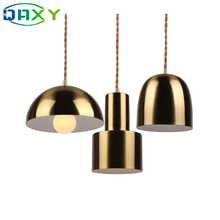 Post-modern Golden Shade Pendant Lamp 7 Models Are Available E27 Dining Room Pendant Light In Cafes Master/other Bedroom[DP4503] цены онлайн