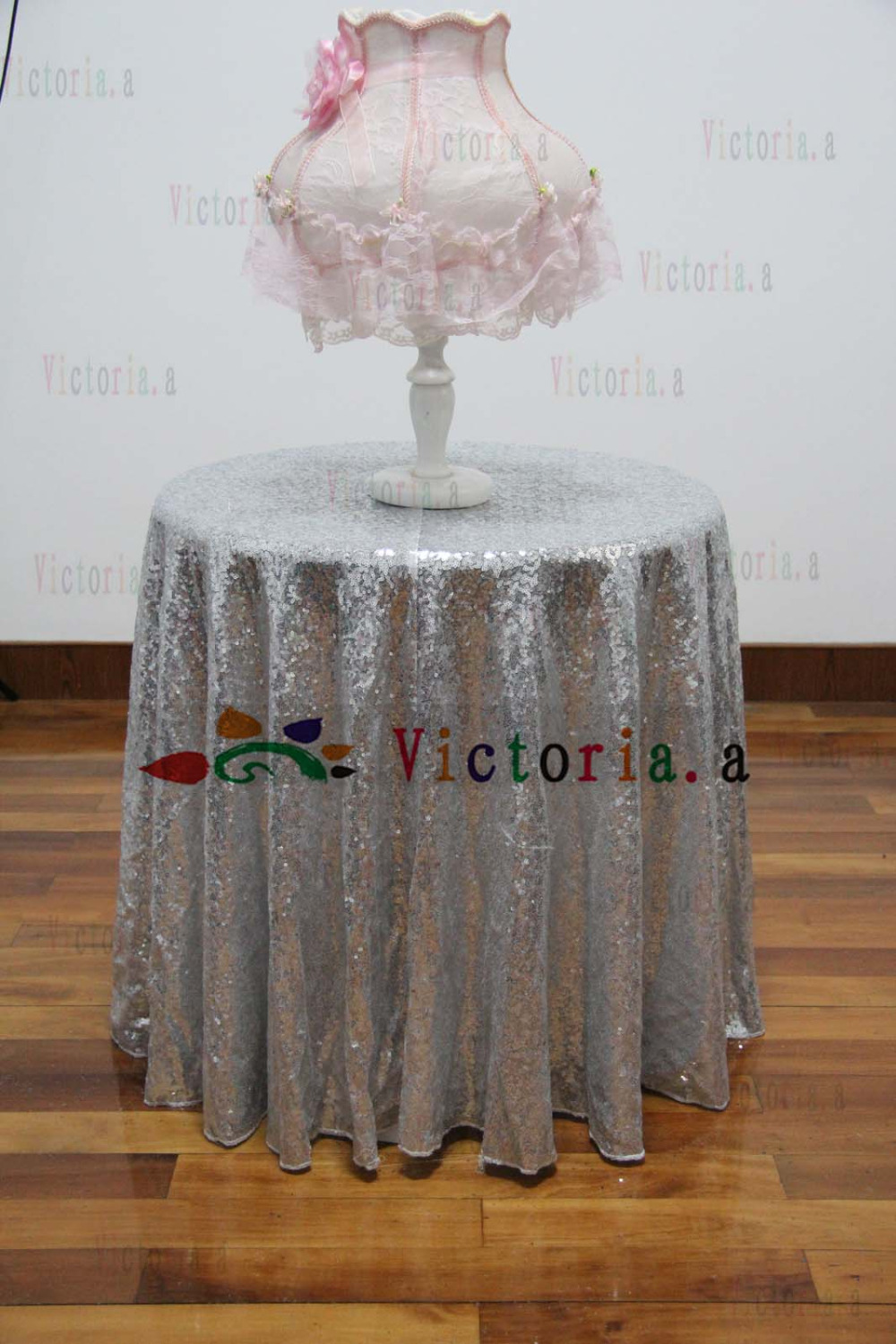 96 inch round tablecloth - 60 Inch Round Silver Sequin Tablecloth Wedding Beautiful Silver Sequin Table Cloth Overlay Cover