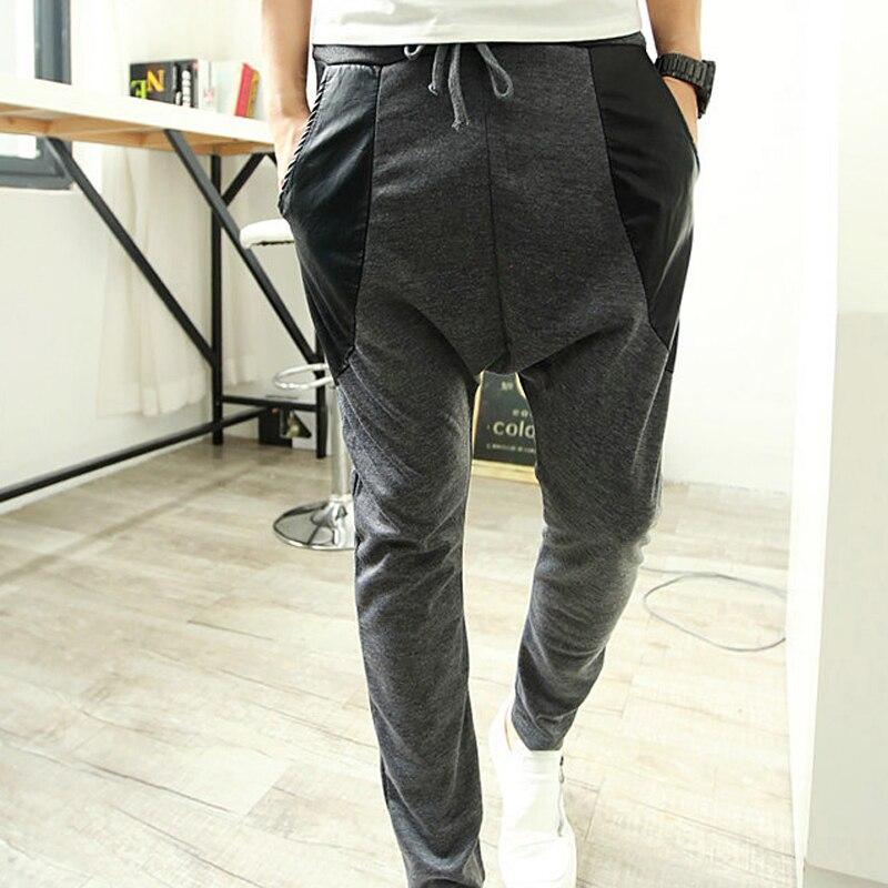 Street Fashion Patchwork Harem Pants Men Sport Hipster Hip Hop Trousers Pantalon Homme Sweatpants Calca Masculina Autumn B154 Trousers Skirt Trouser Dresstrouser Buttons Aliexpress